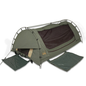 Sahara Drover XL Single Freestanding Dome Canvas Swag & Bag
