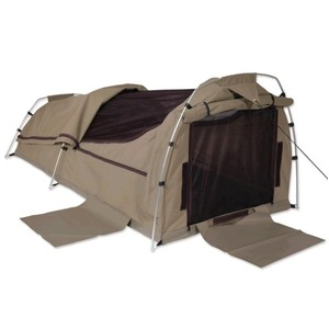 Sahara Nomad Double Dome Canvas Swag & Bag - Brown