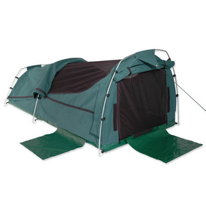 Sahara Nomad King Single Dome Canvas Swag & Bag - Green